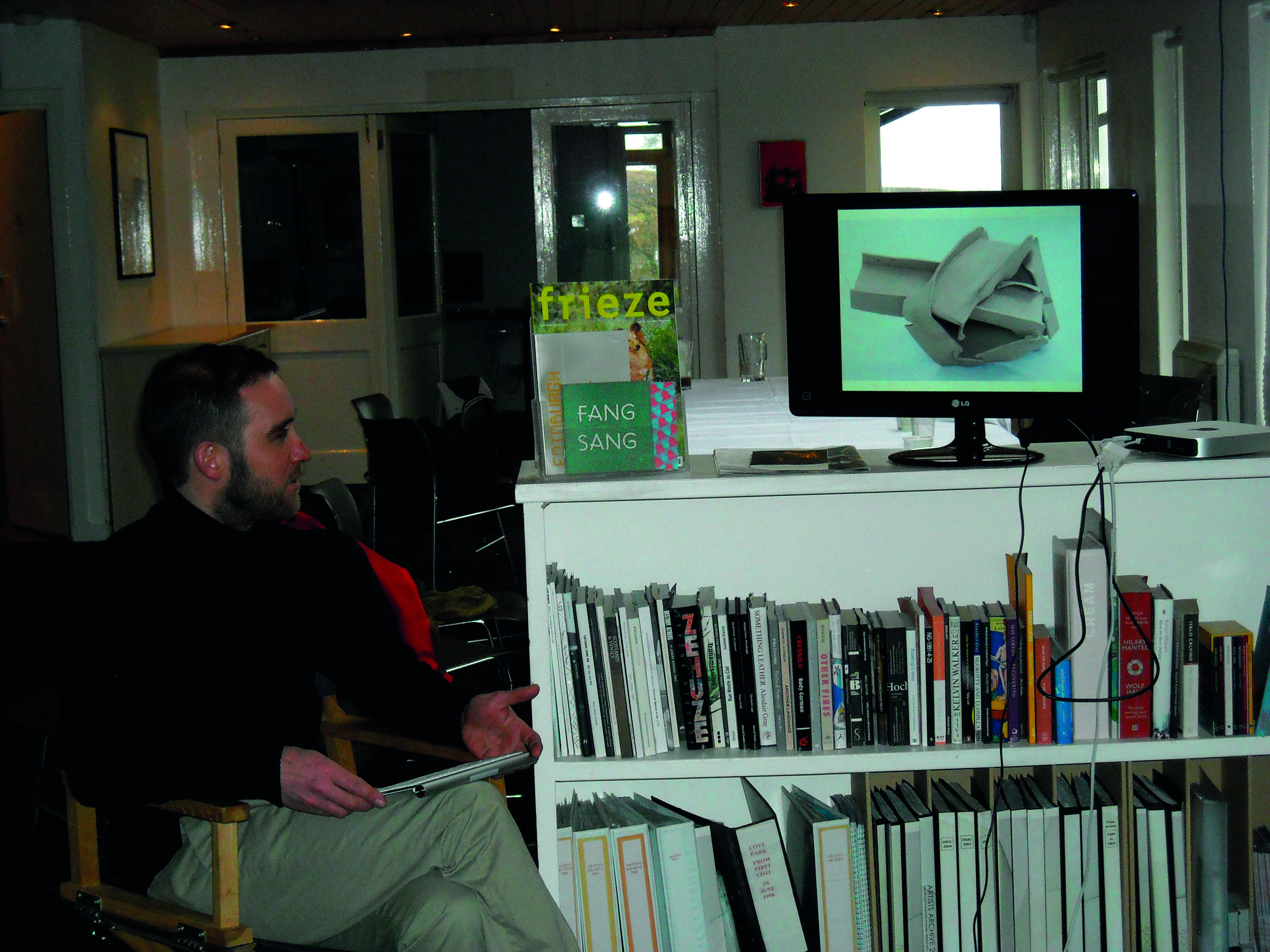 ON-AiR workshop in Glasgow - Visit of Cove Park, artist talk James McLardy