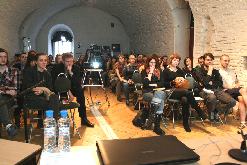 Workshop at PRO ARTE Institute, St Petersburg, Russia, 11 April 2012